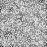 Priorità bassa floreale dell'album del damasco dell'annata Grungy Fotografie Stock Libere da Diritti