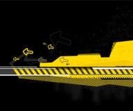 Priorità bassa gialla astratta. Vettore Fotografia Stock Libera da Diritti
