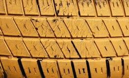 Priorità bassa gialla del pneumatico Fotografia Stock
