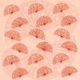 Priorità bassa giapponese tradizionale del ventilatore Fotografia Stock