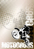 Priorità bassa marrone del manifesto di motocross Fotografia Stock