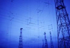 Priorità bassa per tecnologia di telecomunicazione Immagini Stock Libere da Diritti