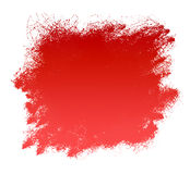 Priorità bassa rossa della sbavatura della vernice di Grunge Fotografia Stock Libera da Diritti