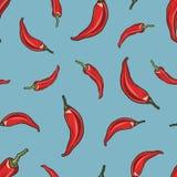 Priorità bassa senza giunte del pepe di peperoncino rosso Fotografia Stock