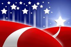 Priorità bassa stilizzata della bandiera americana Fotografia Stock Libera da Diritti