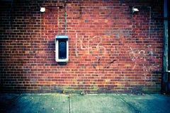 Priorità bassa urbana della parete Fotografia Stock Libera da Diritti