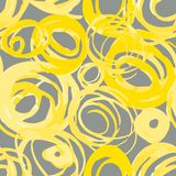 priorit? bassa variopinta dei cerchi Modello dei cerchi di lerciume Progettazione senza cuciture astratta del modello royalty illustrazione gratis