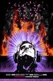 Priorità bassa variopinta del DJ di Burning per l'alternativa DIS Fotografie Stock Libere da Diritti