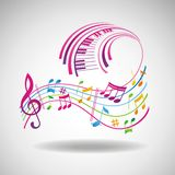 Priorità bassa variopinta di musica. Fotografia Stock Libera da Diritti