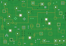 Priorità bassa verde astratta alta tecnologia elettronica Immagine Stock Libera da Diritti
