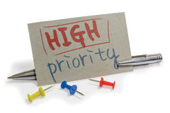 Prioriteits royalty-vrije stock foto