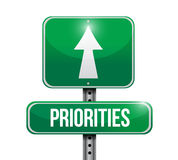 Priorities illustration design. Over a white background Royalty Free Stock Photography