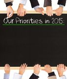 Priorities list Stock Image