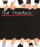 Priorities list Royalty Free Stock Image