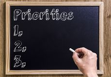 Priorities Royalty Free Stock Photos
