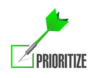 prioritize check dart illustration design Royalty Free Stock Photos