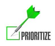 Prioritize check dart illustration design Royalty Free Stock Photos