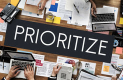 Prioritize Emphasize Efficiency Important Task Concept Stock Image
