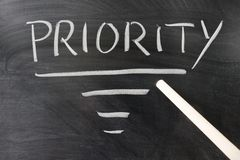 Priority concept Royalty Free Stock Photo