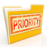 Priority File Shows Deadline Rush Immediate Delivery Royalty Free Stock Image