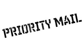 Priority Mail rubber stamp Royalty Free Stock Photo