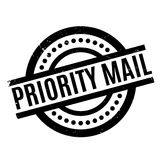 Priority Mail rubber stamp Royalty Free Stock Image