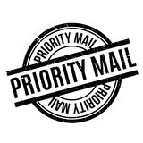 Priority Mail rubber stamp Stock Photo