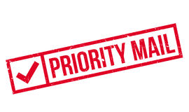 Priority Mail rubber stamp Royalty Free Stock Images