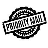 Priority Mail rubber stamp Stock Images