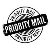 Priority Mail rubber stamp Stock Photos