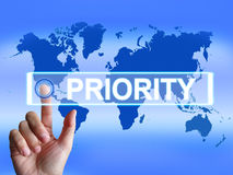 Priority Map Shows Superiority or Preference in. Priority Map Showing Superiority or Preference in Importance Worldwide Royalty Free Stock Photography
