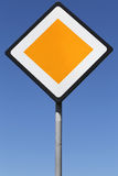 Priority road Royalty Free Stock Photography