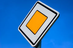 Priority Road Sign Royalty Free Stock Photography