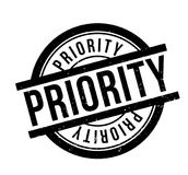 Priority rubber stamp. Grunge design with dust scratches. Effects can be easily removed for a clean, crisp look. Color is easily changed Royalty Free Stock Photos