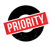 Priority rubber stamp. Grunge design with dust scratches. Effects can be easily removed for a clean, crisp look. Color is easily changed Stock Image