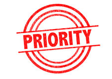PRIORITY Rubber Stamp Royalty Free Stock Photo