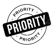 Priority rubber stamp. Grunge design with dust scratches. Effects can be easily removed for a clean, crisp look. Color is easily changed Royalty Free Stock Photography