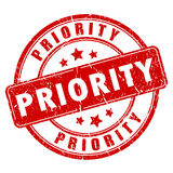 Priority rubber stamp Royalty Free Stock Photography