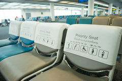 Priority seat Royalty Free Stock Photography