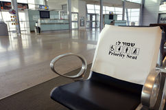Priority seat in the airport Royalty Free Stock Photos