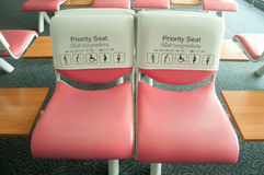 Priority seat Stock Images