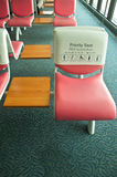 Priority seat Royalty Free Stock Image