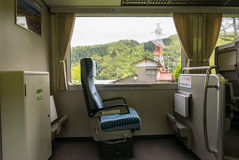 Priority seat for passengers using wheelchair Stock Images