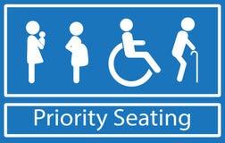 Priority seat Stock Image