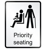 Priority seating Information Sign Stock Photo