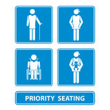 Priority seating sign  Stock Photo
