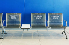 Priority seats Stock Images