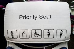 Priority seats in airport. Royalty Free Stock Image