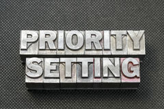 Priority setting bm Royalty Free Stock Photography