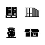 Priority shipping. Simple Related Vector Icons Royalty Free Stock Photos